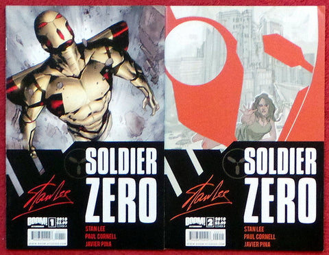 Stan Lee Soldier Zero Boom Studios 2010 Issues #1 and 2 set lot run
