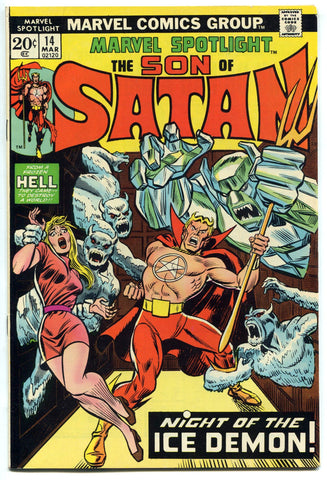 Marvel Spotlight #14 VF/NM High Grade 1974 Daimon Hellstrom Son of Satan