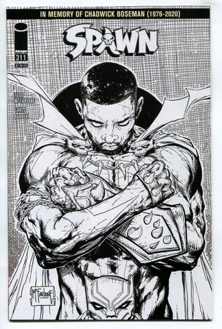 Spawn #311 Chadwick Boseman Black White Tribute Todd McFarlane Variant 2020 NM