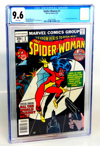 Spider-Woman #1 CGC 9.6 HIGH GRADE Marvel Bronze Age KEY New Origin Jessica Drew