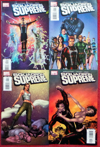 Squadron Supreme  #1 2 3 4 lot set run Straczynski Gary Frank Marvel Comics