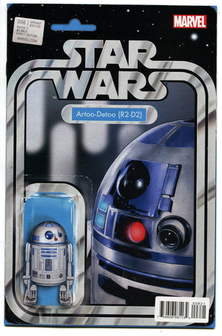 Star Wars #6 Christopher R2-D2 Action Figure Variant Comic Book 2015 Marvel - redrum comics