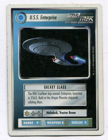 Star Trek CCG TCG Premiere WB Unlimited U.S.S. Enterprise Ship Card