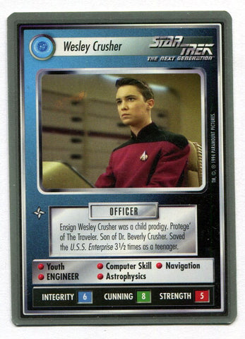 Star Trek CCG Premiere WB Unlimited Wesley Crusher Card Wil Wheaton