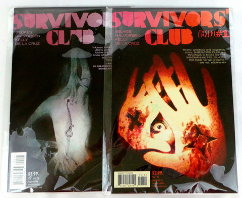 Survivors Club DC Vertigo issues 1 and 2 set lot - redrum comics