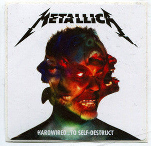 "METALLICA Hardwired To Self Destruct 2016 Promotional PROMO Sticker 4"" X 4"" - redrum comics"