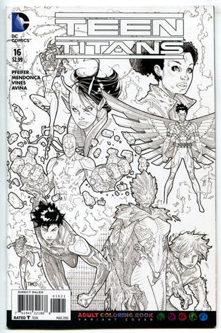 Teen Titans #16 NM Adult Coloring Book Variant Cover DC Comics