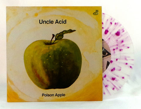 "Uncle Acid and the Deadbeats Poison Apple 7"" on Clear Vinyl with Purple Splatter"