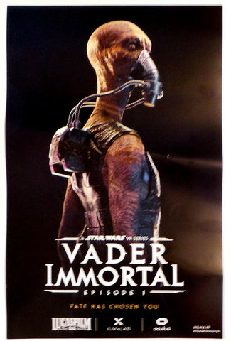 "SDCC 2019 Exclusive Vader Immortal Vylip Foma 11"" x 17"" Promo Poster Last Jedi"