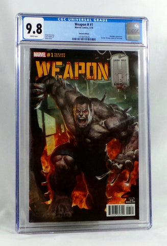 Weapon H #1 Skan 1:10 Variant Cover CGC 9.8 NM Marvel Comics 2018 Wolverine Hulk