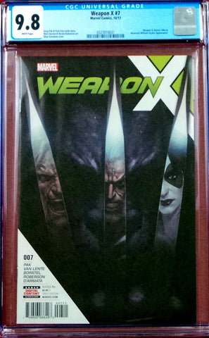 Weapon X #7 CGC 9.8 NM White Pages 2017 Marvel Comics 2nd Appearance Weapon H