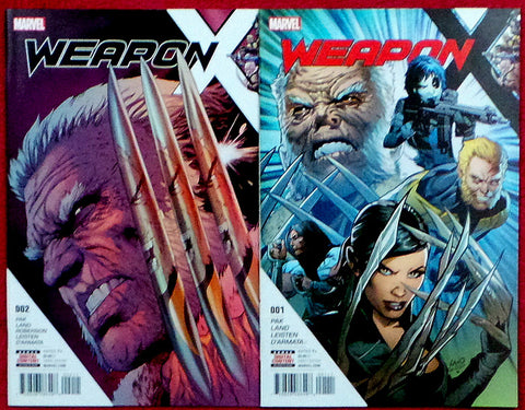 Weapon X issues #1 and 2 Marvel Comics 2017 Old Man Wolverine Sabretooth Domino