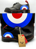 Dr. Martens 1461 THE WHO TARGET Limited Edition Mens Size 9 Black Leather Shoes
