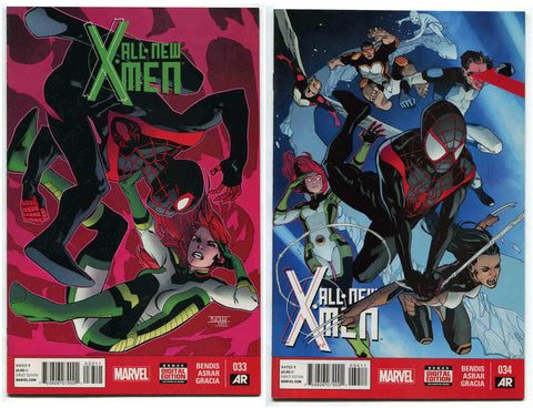 All-New X-Men #33, 34 (2015) NM Marvel Comics X-23 Spider-Man Miles Morales - redrum comics