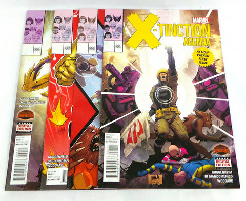X-Tinction Agenda #1 2 3 4 Lot Set Secret Wars X-Men X-Force Wolverine 2015 NM