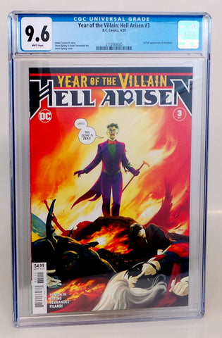 Year of the Villain Hell Arisen #3 DC 1st Print appearance of Punchline CGC 9.6