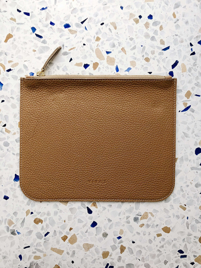 Large Beige Pouch