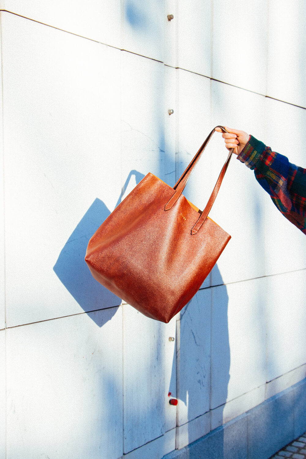 Whiskey Leather Tote Bag