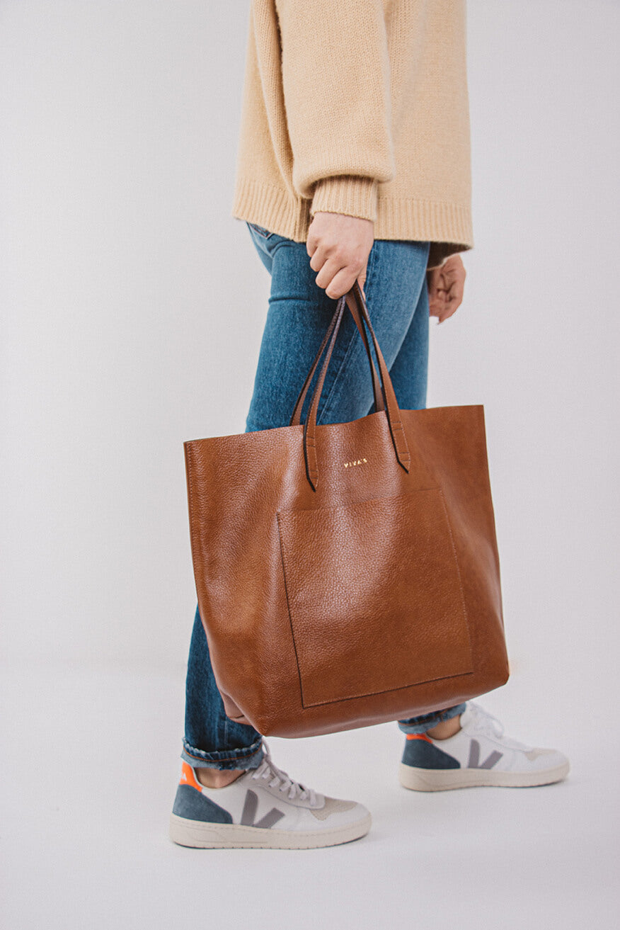 Cognac Travel Tote Bag