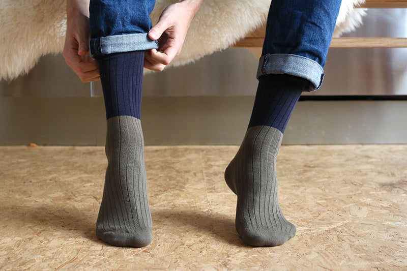 colorful men socks - sustainable production - Escuyer