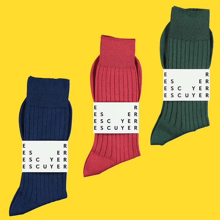 Fil d'Ecosse Socks, 100% Cotton socks, Escuyer