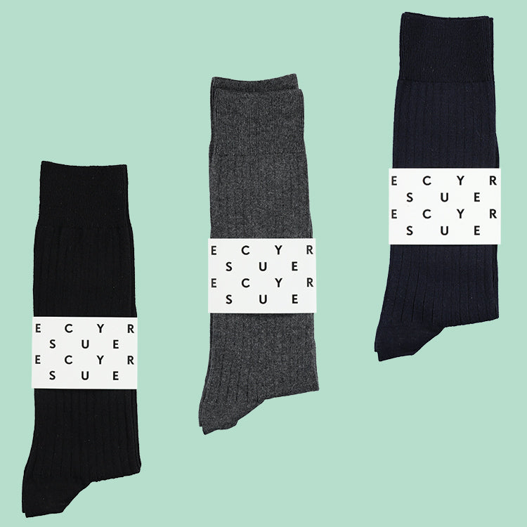 Classic ribbed Cotton Socks, Escuyer