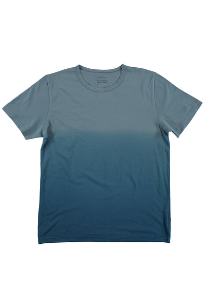 Dégradé Crew Neck T-Shirt - Blue / Blue