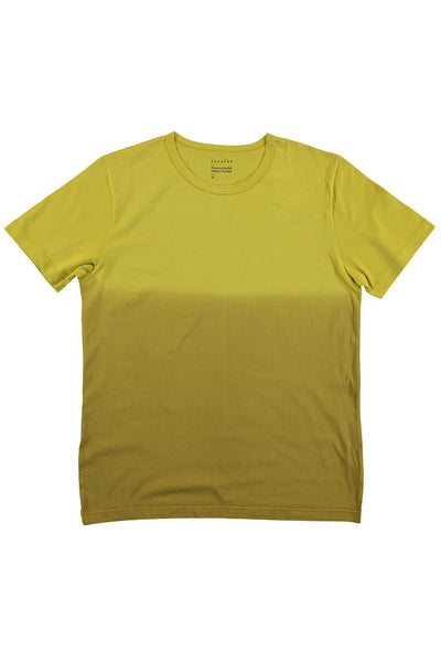 Dégradé Crew Neck T-Shirt - Ocher / Khaki - Escuyer