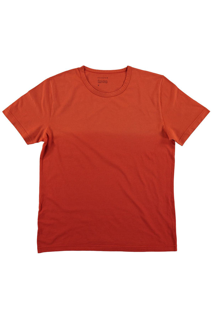 Dégradé Crew Neck T-Shirt - Orange / Red - Escuyer