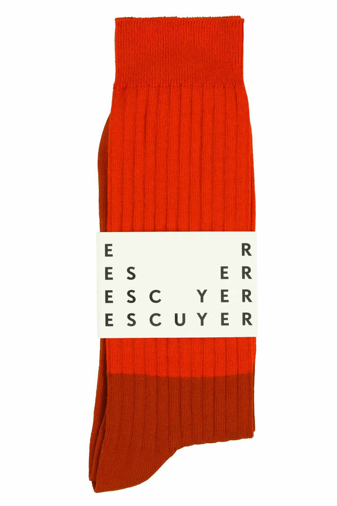 Colour Block Socks Molten Lava / Gold Flame - Escuyer