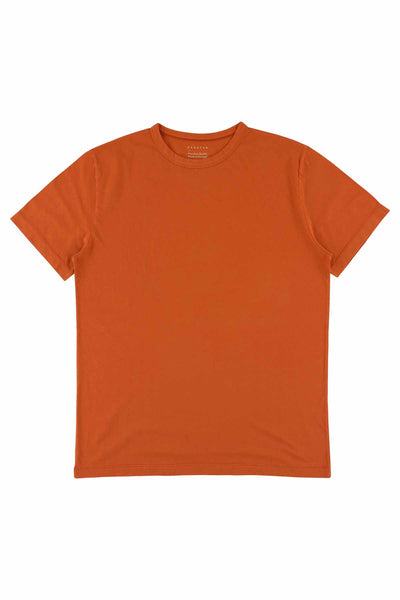 Crew Neck T-Shirt - Rust - Escuyer