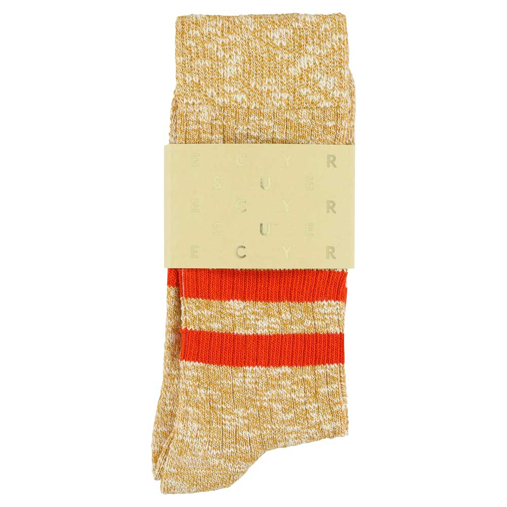 Melange Stripes Socks - Mustard / Orange