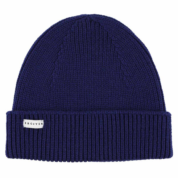 Ribbed Merino Beanie / Bold Blue - Escuyer