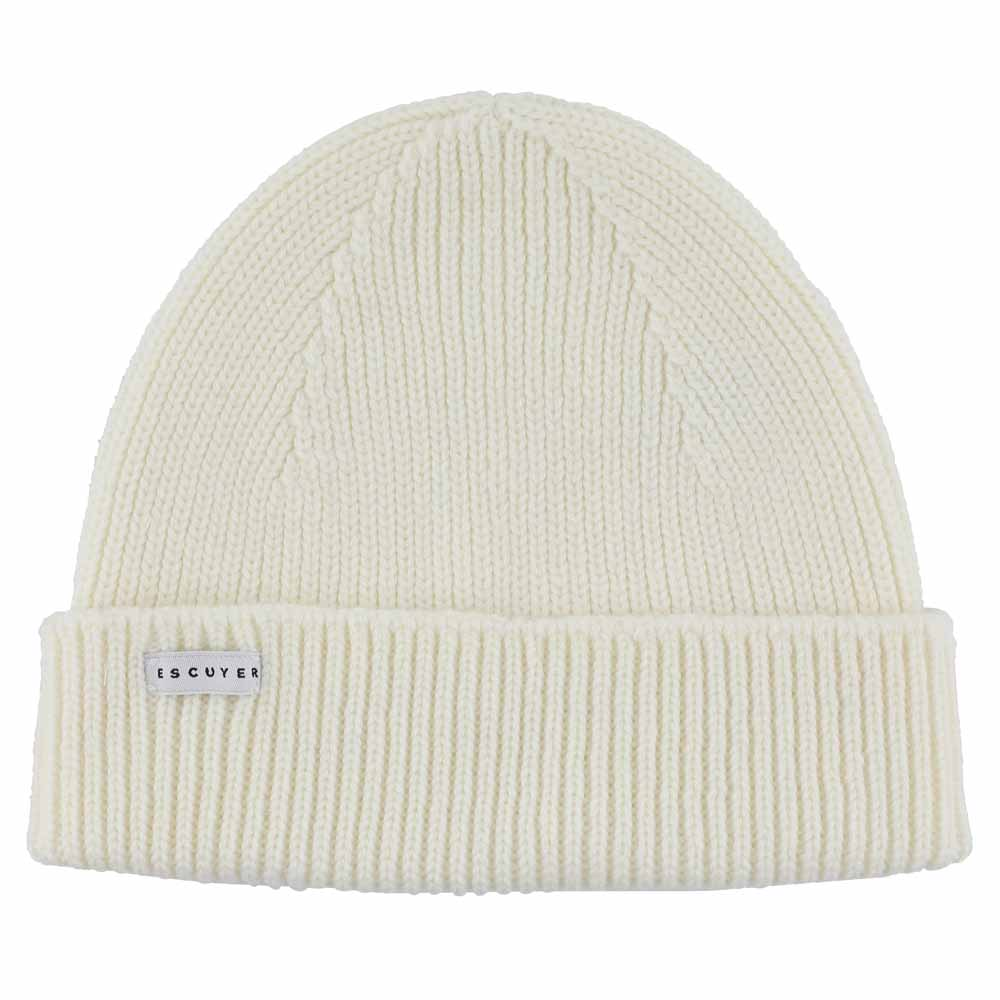 Ribbed Merino Beanie / Cream - Escuyer