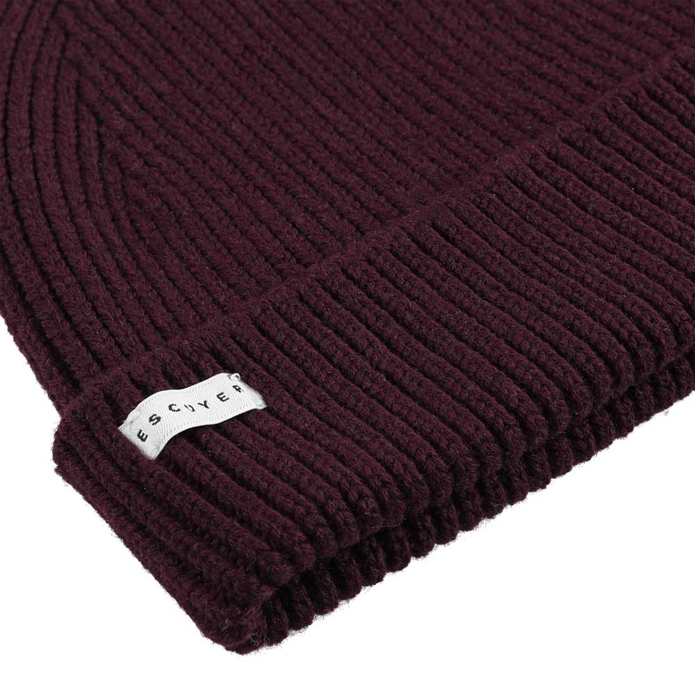 Ribbed Merino Beanie / Purple