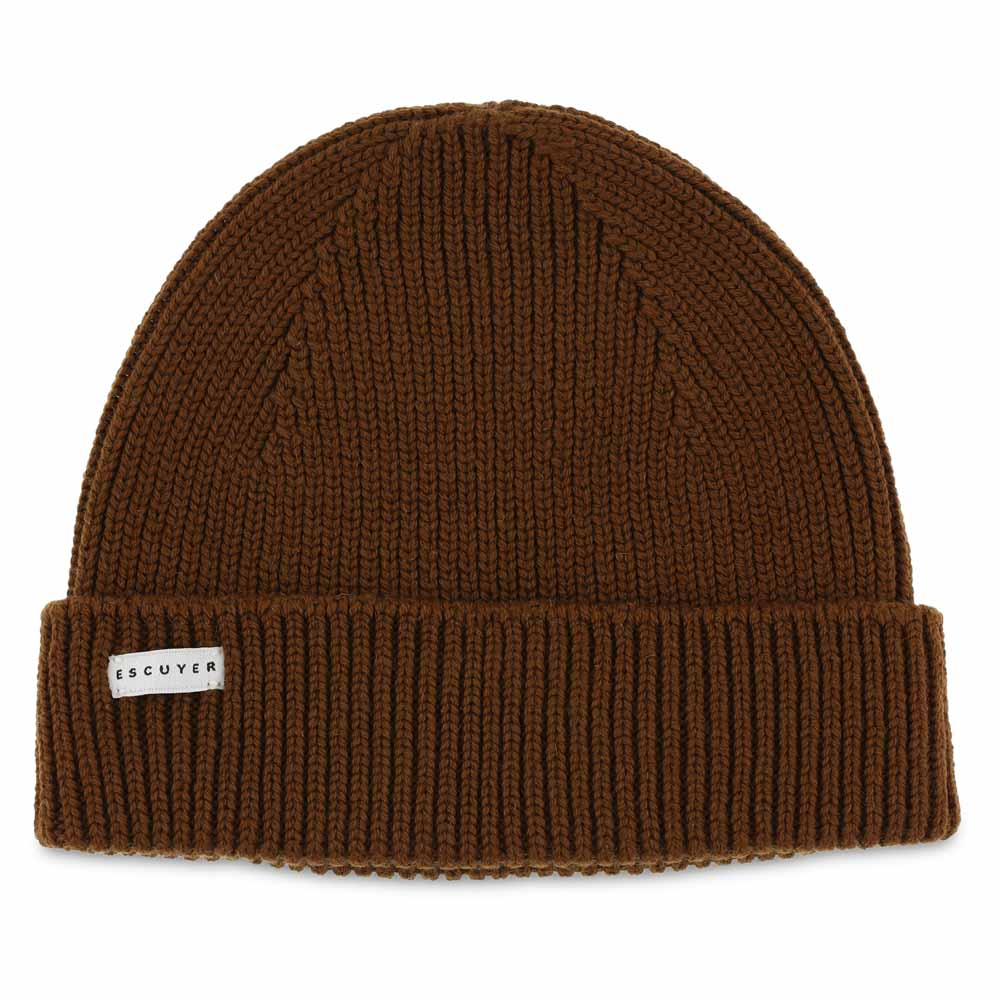 Ribbed Merino Beanie / Tobacco - Escuyer
