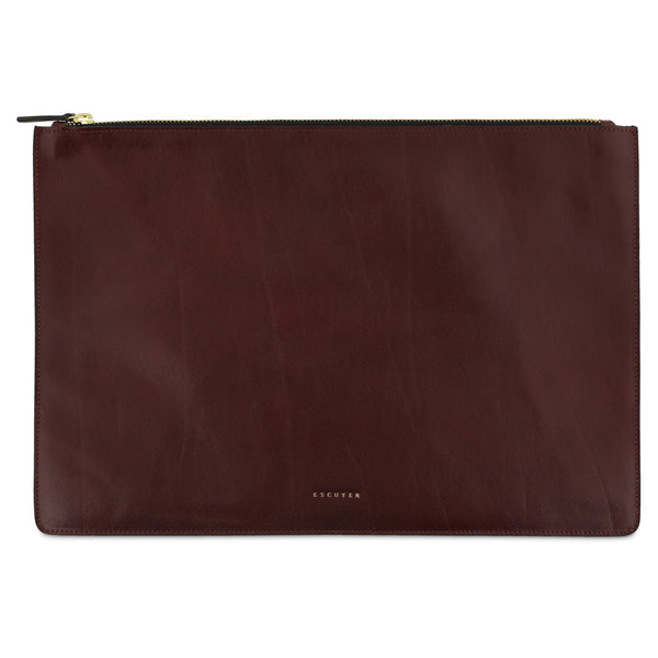 Leather Pouch / Burgundy - Escuyer