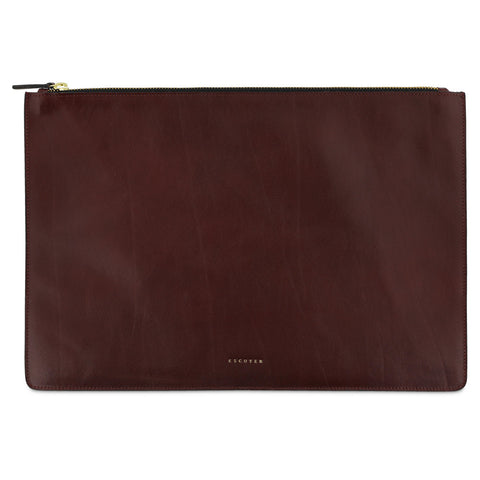 Leather Pouch / Burgundy