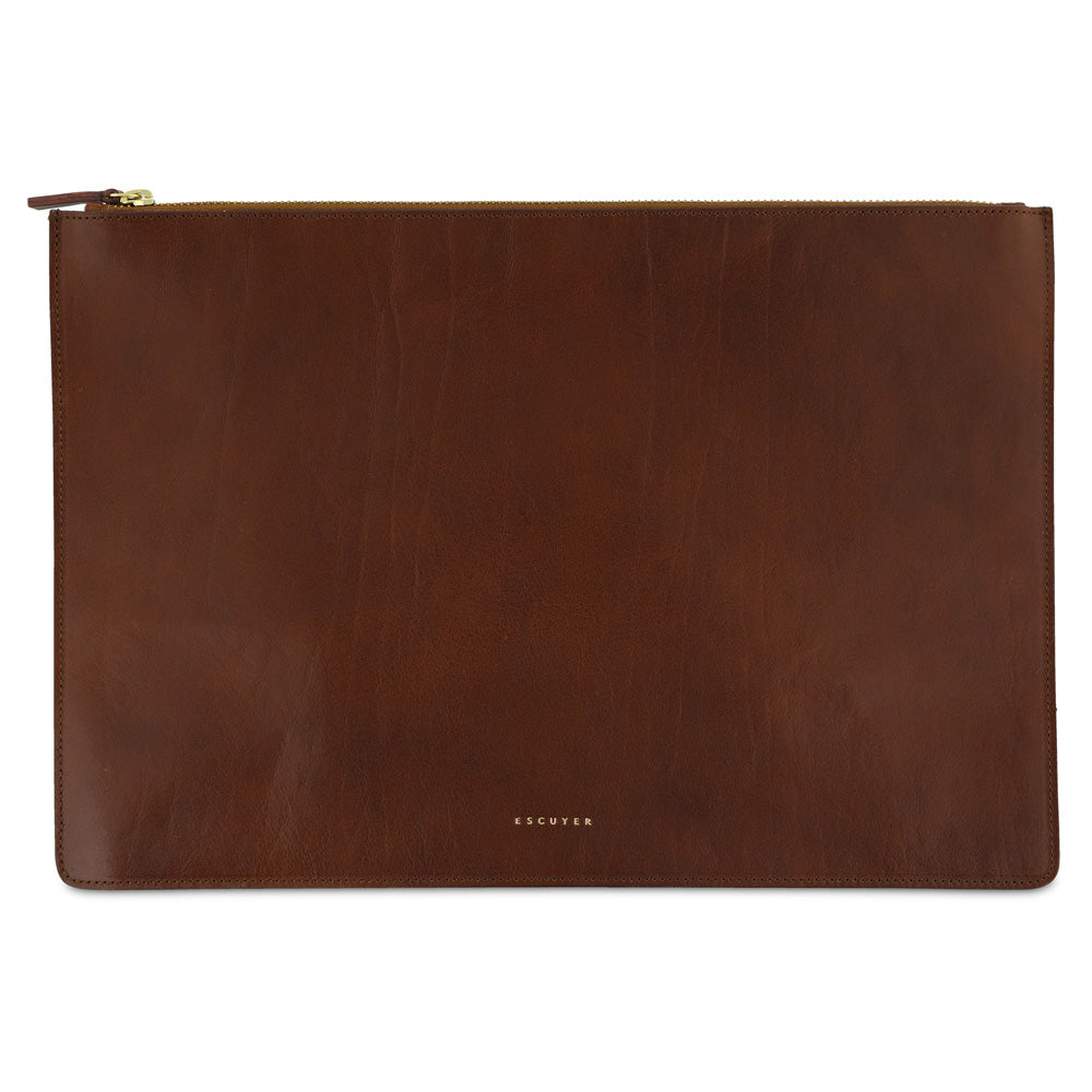 Leather Pouch / Light Brown - Escuyer