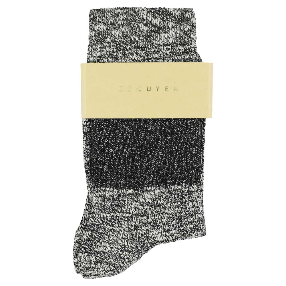 Lurex Melange Band Socks - Black
