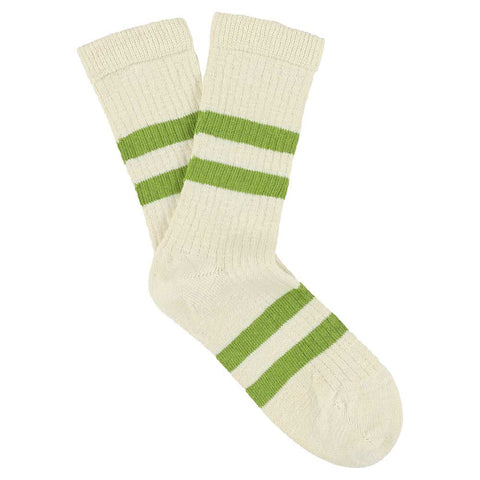 Women Melange Stripes Ecru / Green