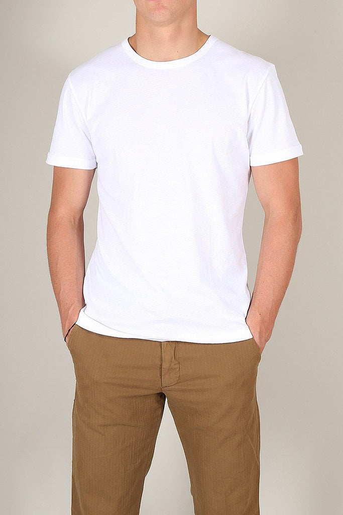 Crew Neck T-Shirt - White - Escuyer