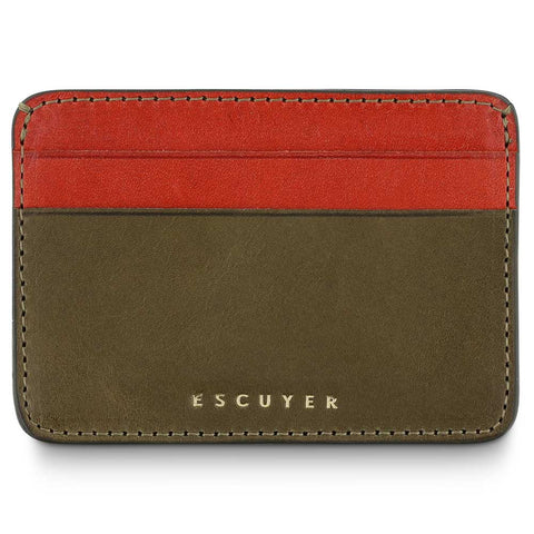 Cardholder - Khaki / Orange