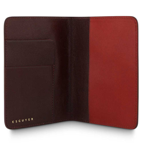 Passport Cover // Burgundy / Red