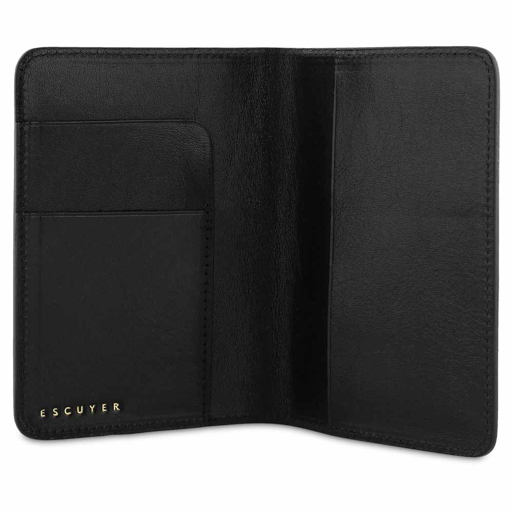 Passport Cover / Black - Escuyer