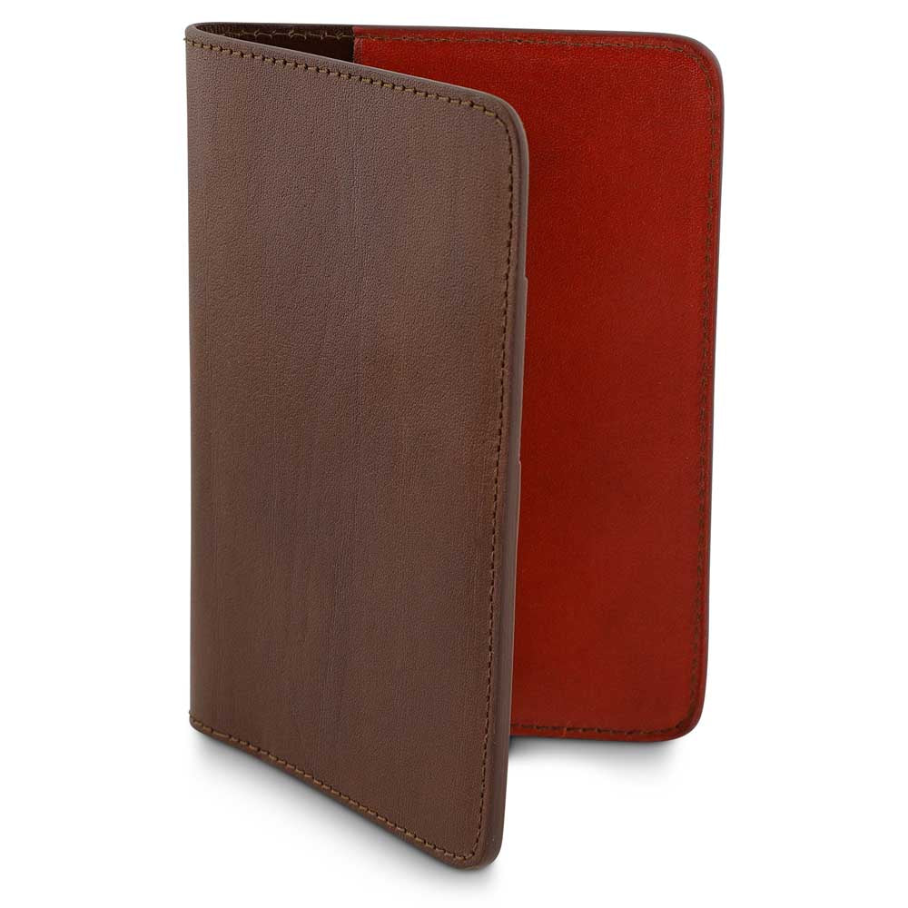 Passport Cover // Light Brown / Orange