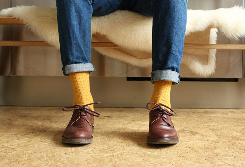 Cashmere Socks - Yellow (62) - Escuyer