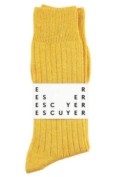 Cashmere Socks - Yellow - Escuyer