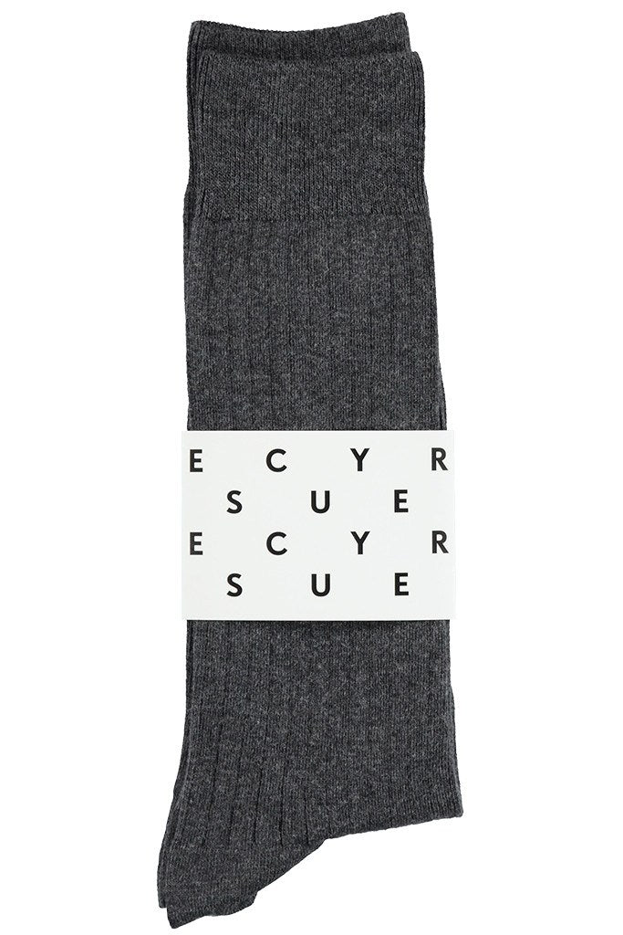 Classic Ribbed Socks - Anthracite - Escuyer