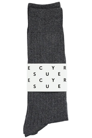 Classic Ribbed Socks - Anthracite